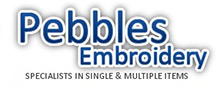 Pebbles Embroidery Logo