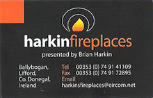 Harkin Fireplaces, Donegal Company Logo