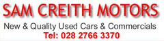 Sam Creith Motors Ltd, Ballymoney Company Logo