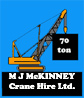 MJ McKinney Crane Hire Ltd Logo