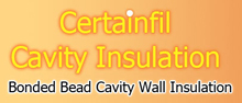 Certainfil Cavity Wall Insulation, Belfast Company Logo